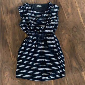 Pink Sophie Navy Striped Dress Size S